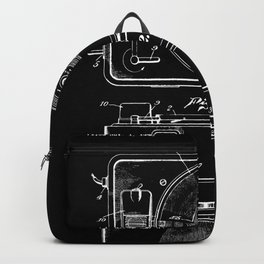 Turntable Patent - White on Black Backpack