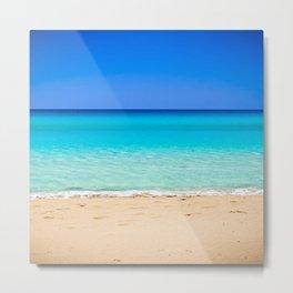 Beach on Crete Metal Print