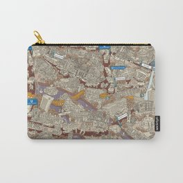 Illustrated map of Berlin-Mitte. Sepia Carry-All Pouch