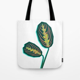 Geometric Jungle — Prayer Plant 'Maranta leuconeura' Tote Bag