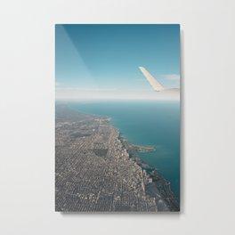 Flight over Chicago Metal Print