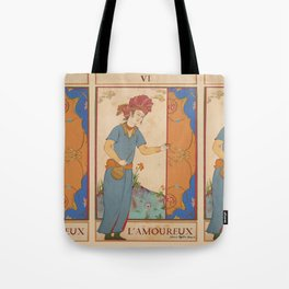 Tarot Card-L'Amoureux-Lovers Tote Bag