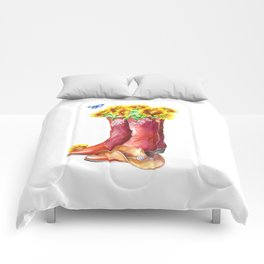 Western Sunflower Comforters