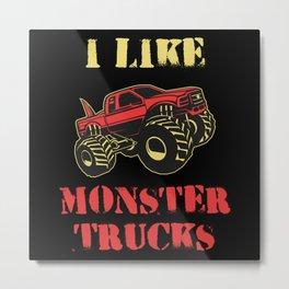 Monster Truck Car Kids Gift Idea Metal Print