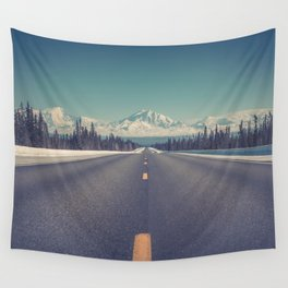 Snow Mountain Road (Color) Wall Tapestry
