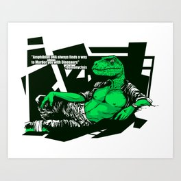 Amphibian DNA - Dienonychus Art Print