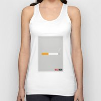 mad men Tank Tops featuring Mad Men - Minimalist by Marisa Passos