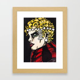 Red Pearls #2 Framed Art Print