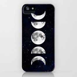 Phases of the Moon Galaxy iPhone Case