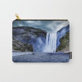 Misty Blue Waterfall Carry-All Pouch