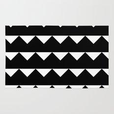 Black Triangles Rug