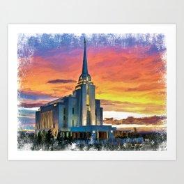 Rexburg Idaho LDS Temple Art Print