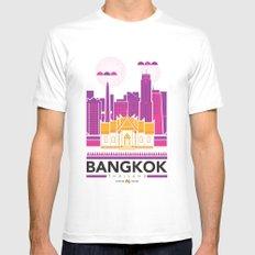 City Illustrations (Bangkok, Thailand) MEDIUM White Mens Fitted Tee