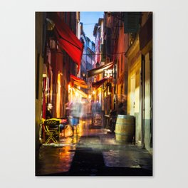 A walk through Nizza after the rain Canvas Print