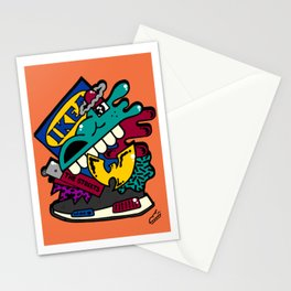 90s/00s collage Stationery Cards