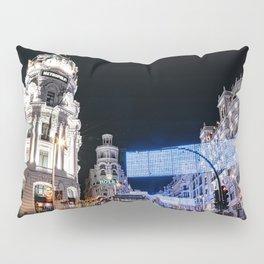 Gran Via Street at Night Pillow Sham