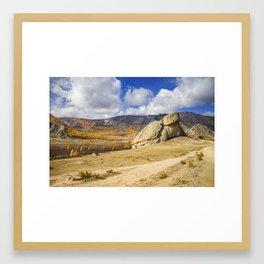Turtle Rock Mongolia Framed Art Print