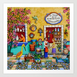Mexican Pottery Studio Art Print