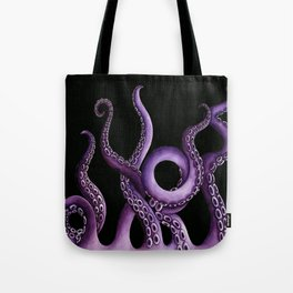 Purple Kraken at Night Tote Bag