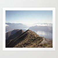 new zealand Art Prints featuring New-Zealand by nodirectionhome