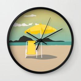 Yellow Sunset Wall Clock