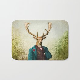 Lord Staghorne in the wood Bath Mat