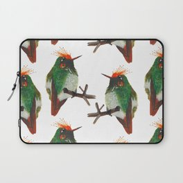 Rufous-crested Coquette Laptop Sleeve