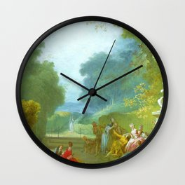 "Jean-Honoré Fragonard ""A Game of Hot Cockles"" Wall Clock"