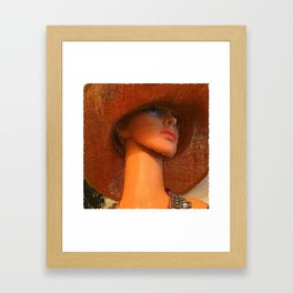 Cotton Club: The Girl In The Picture Hat Framed Art Print