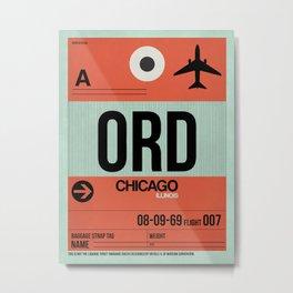 ORD Chicago Luggage Tag 2 Metal Print