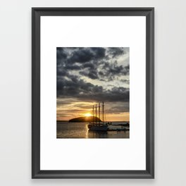 Sunrise Bar Harbor Maine Framed Art Print