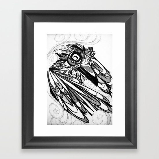Raven's Escape Framed Art Print