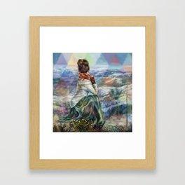 Sinew Moon Mountain Majesty Framed Art Print