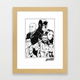 Daredevil Collage - Season1 Framed Art Print