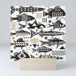 Boho Fishes Mini Art Print