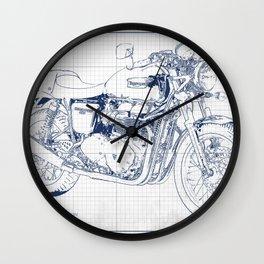 Triumph motorcycle blue and grey, giftforman,christmas gift Wall Clock
