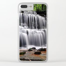 Serenity of a Fall by Dana Tinnell - Twilight Paintings Clear iPhone Case