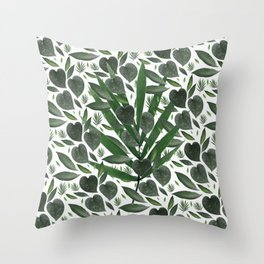 Leafy Love Surprise Throw Pillow