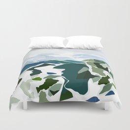 green mountains Duvet Cover