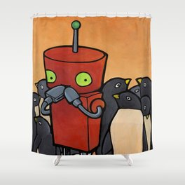Robot - You Make Me Laugh Shower Curtain