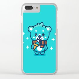 Ice Cream Bear Clear iPhone Case