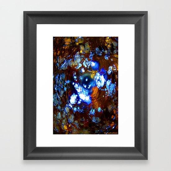 Cracked Illumination Framed Art Print
