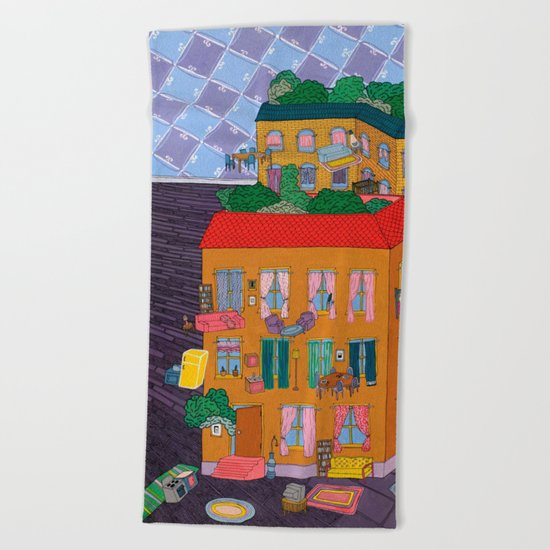 Inside Out Apartment Beach Towel