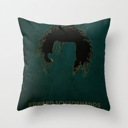 Edward Scissorhands Poster Throw Pillow