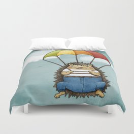 The Brave Hedggie Duvet Cover