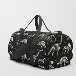 Dinosaur Fossils on Black Duffle Bag