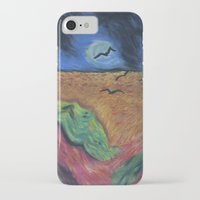 calvin hobbes iPhone & iPod Cases featuring Crows Over A Wheat Field and Calvin by Sharon Marta