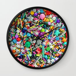 Rainbow Sprinkles - cupcake toppings galore Wall Clock