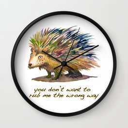 Pete the Porcupine Wall Clock