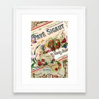 french Framed Art Prints featuring French by Joke Vermeer